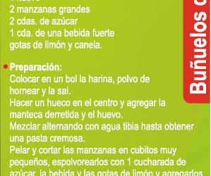 Receta – Buñuelos de manzana