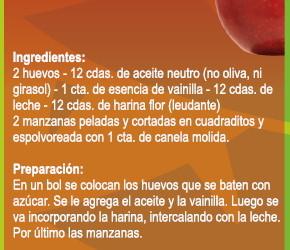 Receta – Torta de manzana